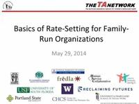 Basics of Rate Setting for Family Run Organizations
