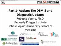 Clinical Distance Learning Series Webinar: Intellectual Disabilities & Autism