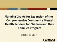 SAMHSA Orientation 2014 SOC Expansion Planning Grants