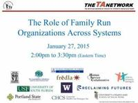 The Role of Family Run Organizations Across Systems